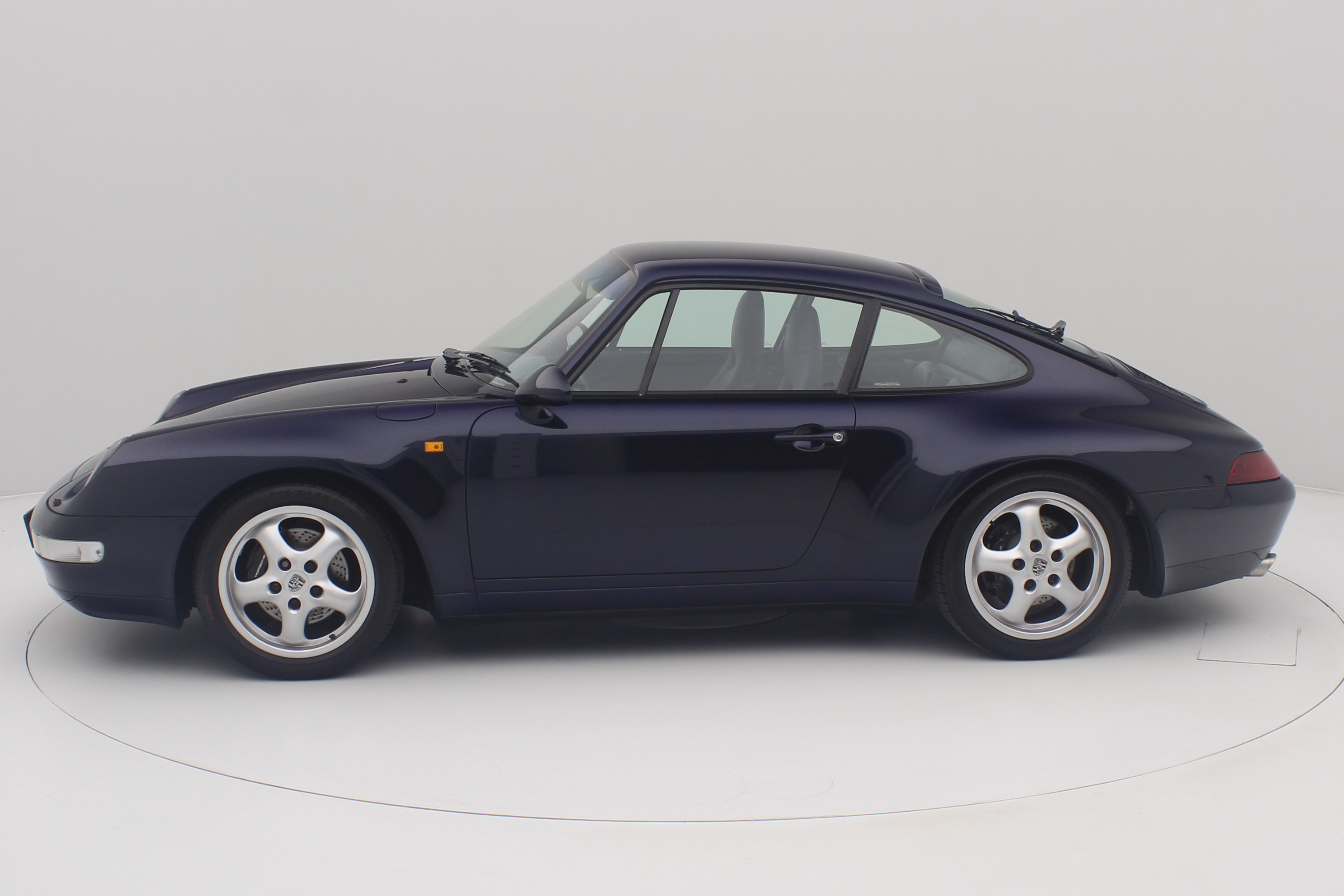 Porshe 911 Carrera 2 993 blauw left side